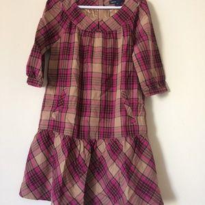 Girls Plaid drop waist Dress